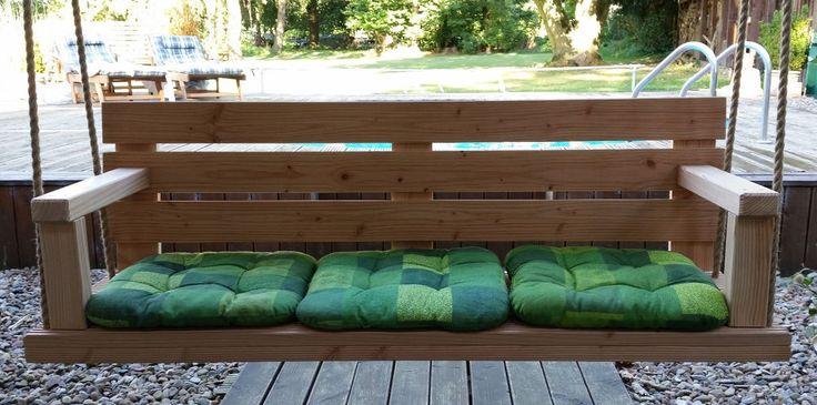 Hängebank Hollywoodschaukel Schaukelbank aus Douglasie Holz 1,45 m in Garten & Terrasse, Möbel, Hollywoodschaukeln | eBay!