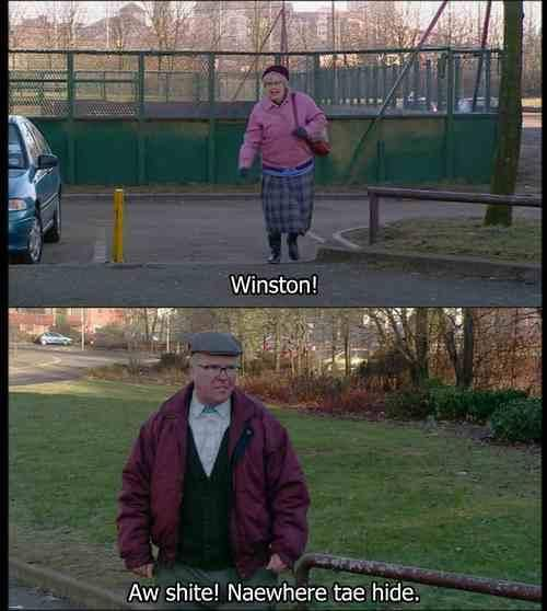 Bad feeling I will be Isa when I'm old! Still Game