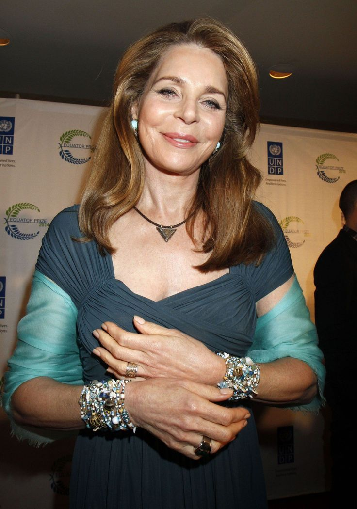 Queen Noor sported some dazzling bracelets at the gala event.