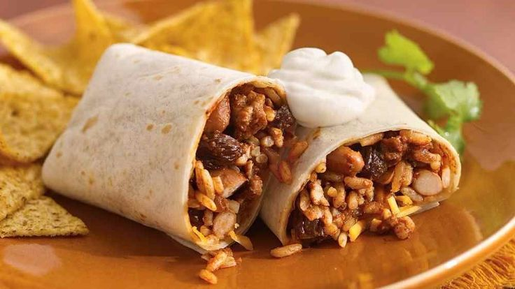 Spicy chicken burrito (slimming world friendly)