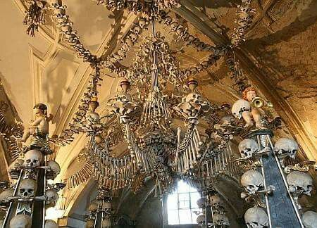 Bone Church Enthusiasts, this is your lucky day! Europe is full of them. The most well-known is probably the Sedlec Ossuary in the countryside of the Czech Republic, but there is also one in Faro, Portugal. In the Capuchin Crypt, there is even a set of human bones that was arranged on the ceiling to look like the Grim Reaper, because apparently the Grim Reaper wasn't terrifying enough already.