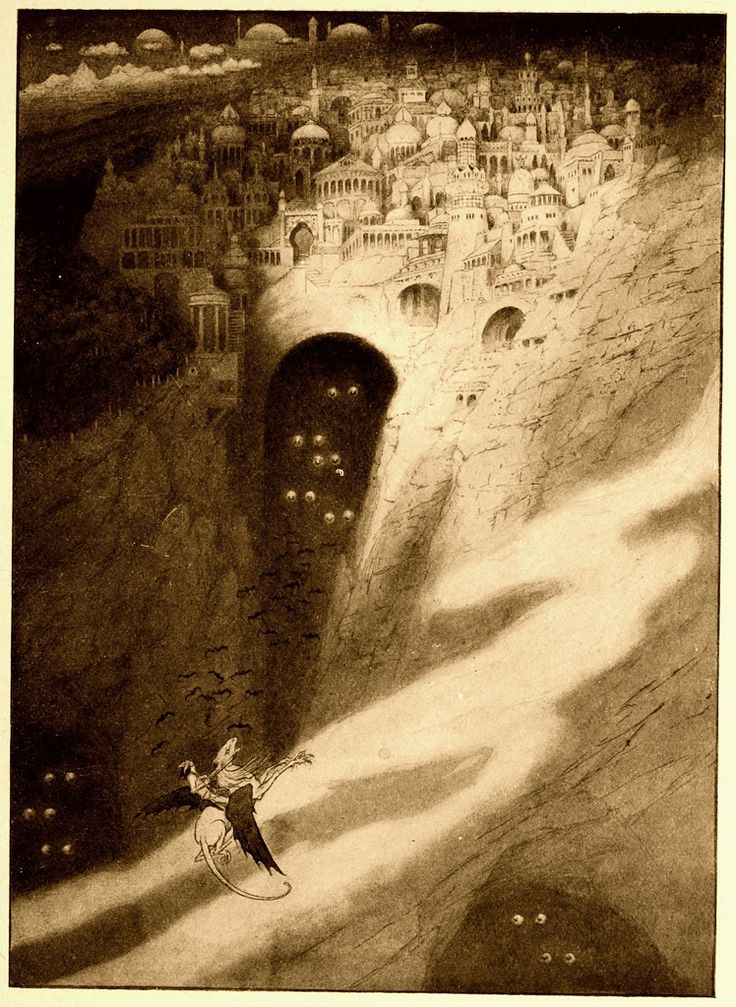 Sidney Sime. Imagination inspiration.Artdesign Scrapbook, The Edging, The Cities, Illustration Favorite, Art Helpful, Lord Dunsani, Book Illustration, 1912, Sidney Sime