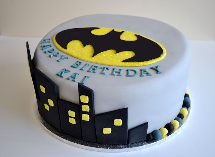 My cousin asked me to make a Batman cake for her little boy's birthday. The kids loved it. They had a batman candle they added to the top and batman carried the cake into the party!