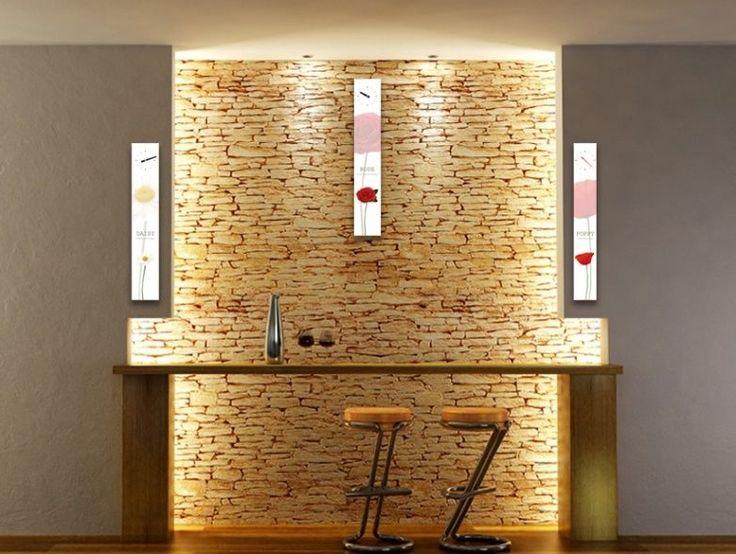 Interior Wall Clock Flower Home Decor, Modern Luxury 3pcs Framed Wall Art   #LEMONART #ArtDeco