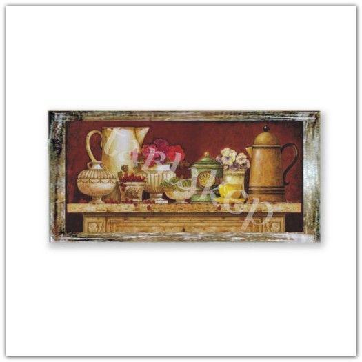 Csendélet kannával fa falikép konyhába, táblakép konyhába vagy kamrába