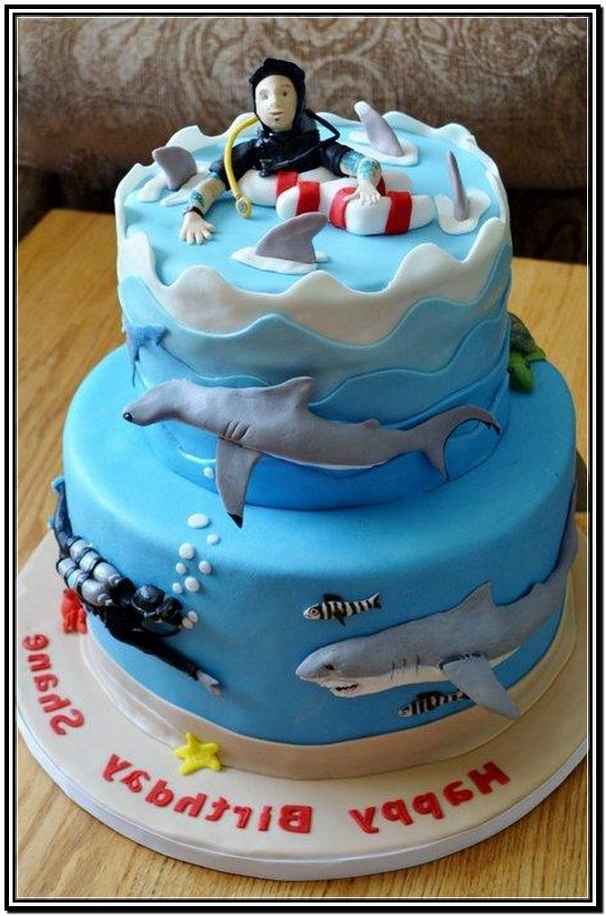 Hammerhead Shark Birthday Cake Shark Love Pinterest