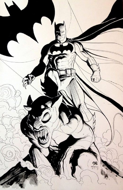 Frank Cho Batman Comic Art