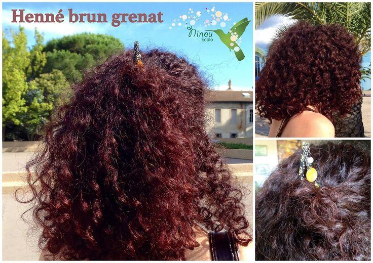 henn brun grenat coloration naturelle pinterest - Coloration Henne