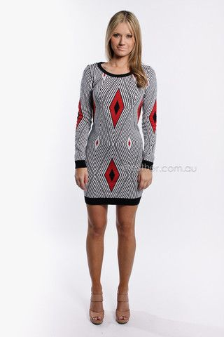 only diamond tunic - red/black - sale