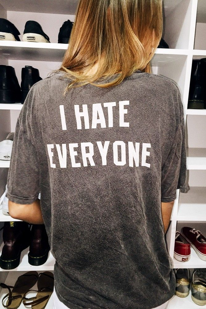 Brandy ♥ Melville | Reagan I HATE EVERYONE Top - Graphics
