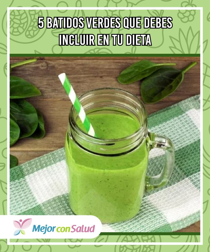 5 batidos verdes que debes incluir en tu dieta