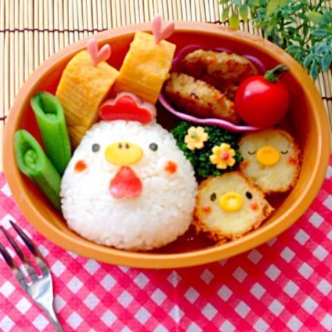 chicken and chicks bento