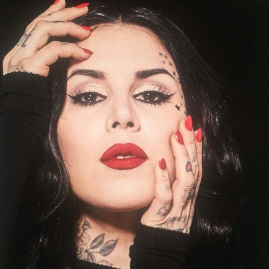 60 best kat von d images on pinterest kat von d tattoos for Face tattoo makeup
