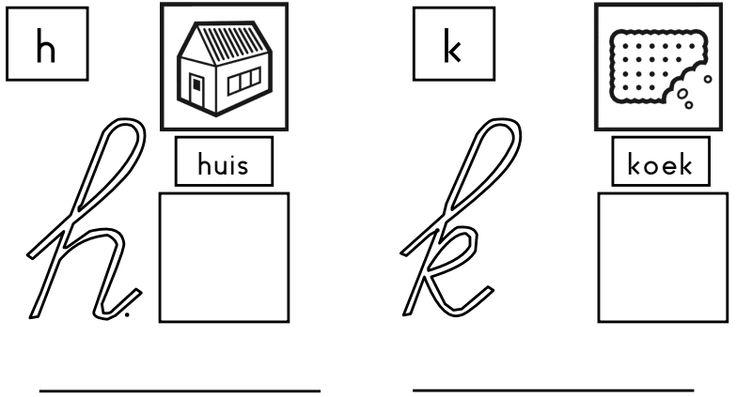 Letterkleurboek - Juf Inger