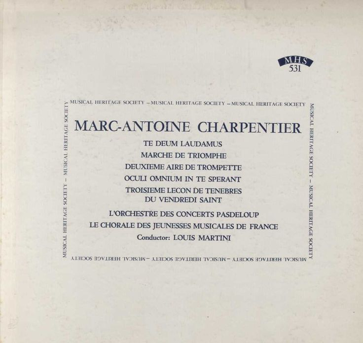 Marc Antoine Charpentier - Charpentier: Te Deum, Marche And Aire