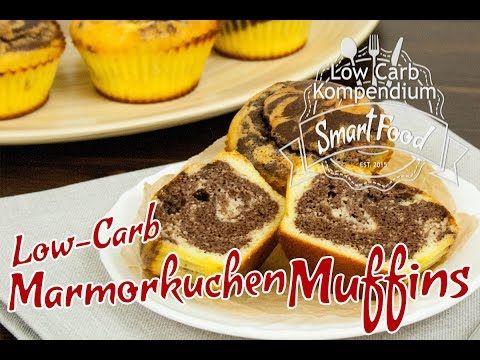 Marmorkuchen-Muffins - So saftig, lecker und Low Carb - YouTube