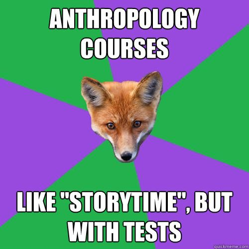 How did I not think not think of this earlier?! #anthropology