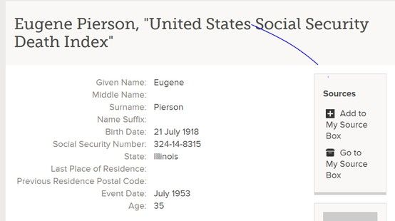 My dadu0027s Social SecurityDeath Index Record of his death Citing - social security application form