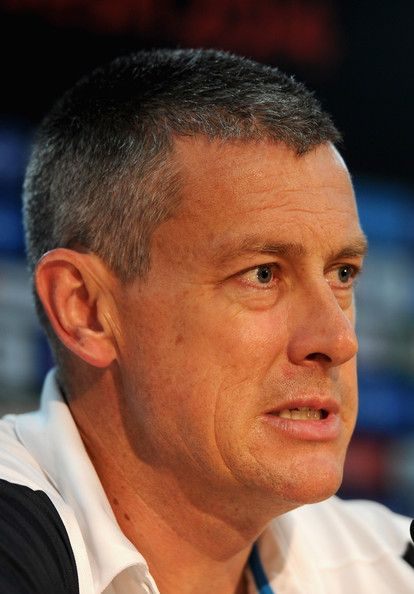 Ashley Giles Photos Photos - England coach Ashley Giles speaks to the media during a press conference at Zahur Ahmed Chowdhury Stadium on March 30, 2014 in Chittagong, Bangladesh. - Ashley Giles Press Conference