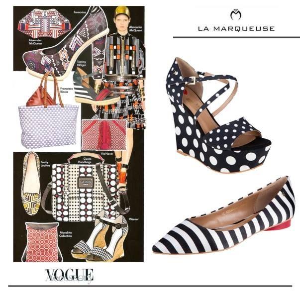 Wzory geometryczne to hit tego sezonu:)  ...: #Love #Moschino #LaMarqueuse #Vogue #dodatki #akcesoria #accessory #baleriny #shoes :...