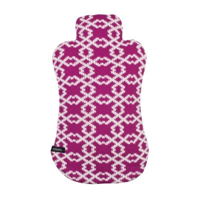 Ladelle Hotbotts Hot Water Bottle with Jersey Cover, Zola Design