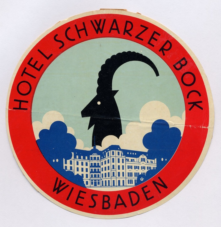 Vintage Bavaria Germany Hotel Luggage Sticker...From 1930