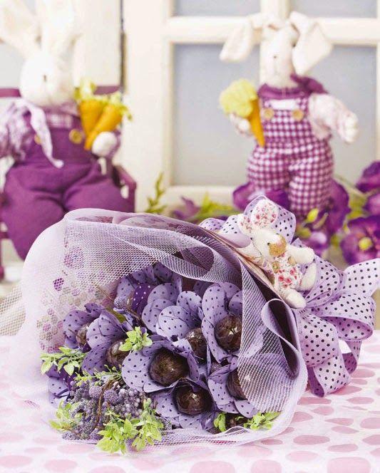 Eu Amo Artesanato: Buquê de flores de chocolate                                                                                                                                                     Mais