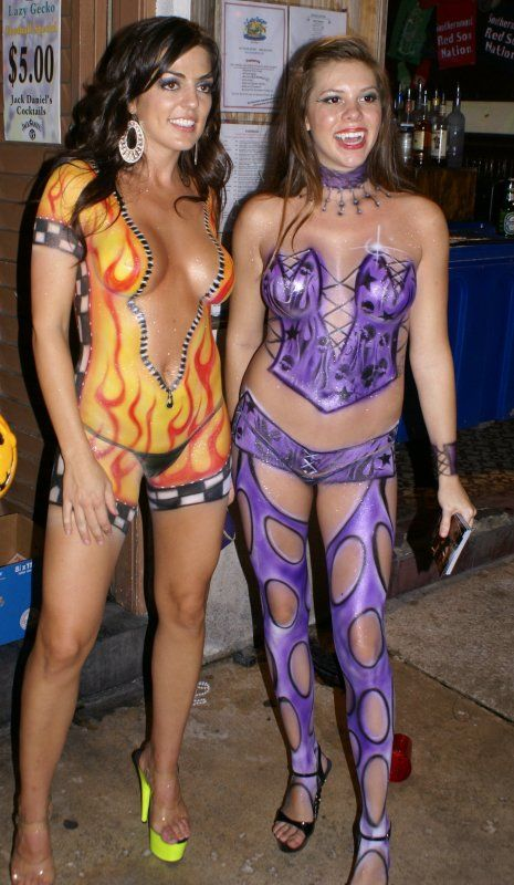 Excellent Nude body paint women in key west