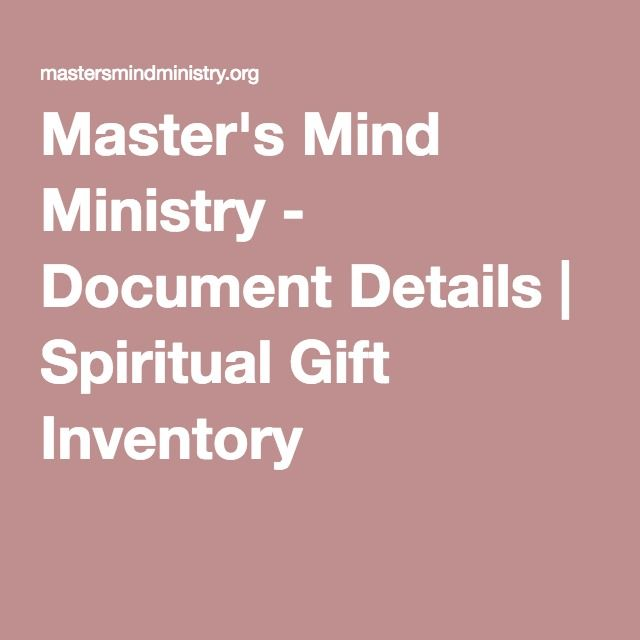 Best 25 spiritual gifts inventory ideas on pinterest spiritual masters mind ministry document details spiritual gift inventory negle Image collections