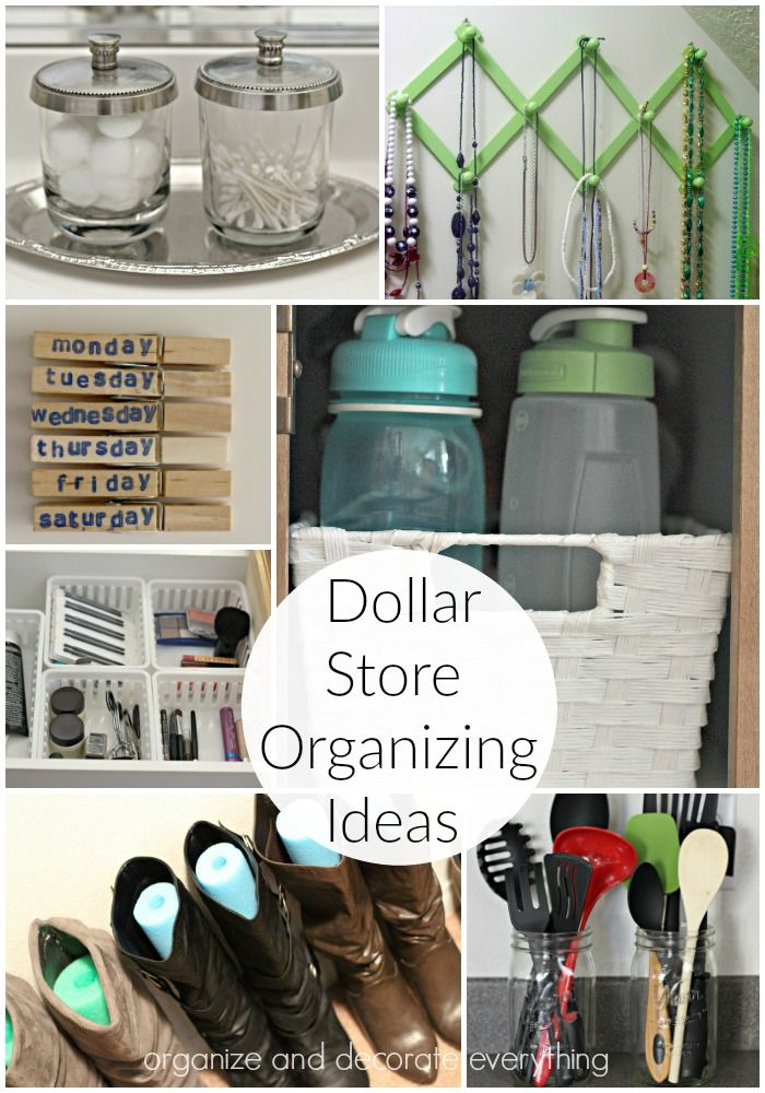dollar-store-organizing-ideas Organize and Decorate Everything