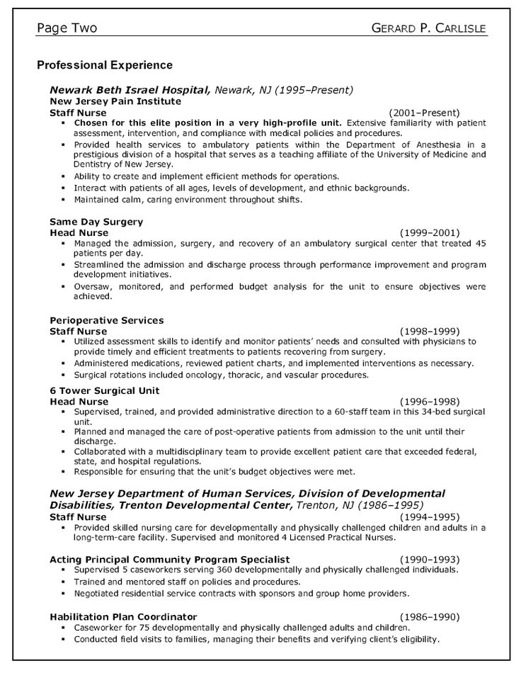 Nurse Resume Example Sample Cover Home Health Care Nursing Examples  Examplesrn Ldjpekt Large