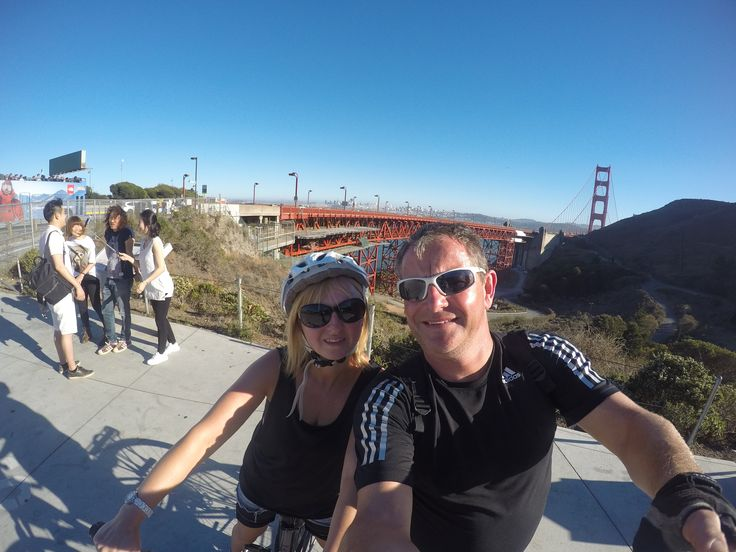 Getting ready to cycle over the Golden Gate Bridge
