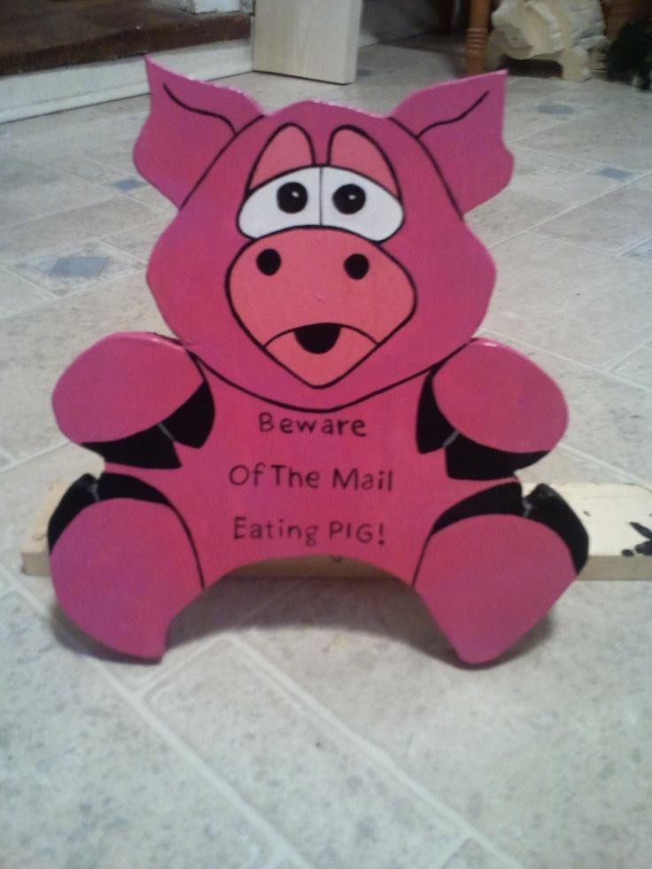 Pig mail box sitter $15.00