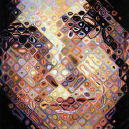 Chuck Close Maggie, 1996, Oil on canvas