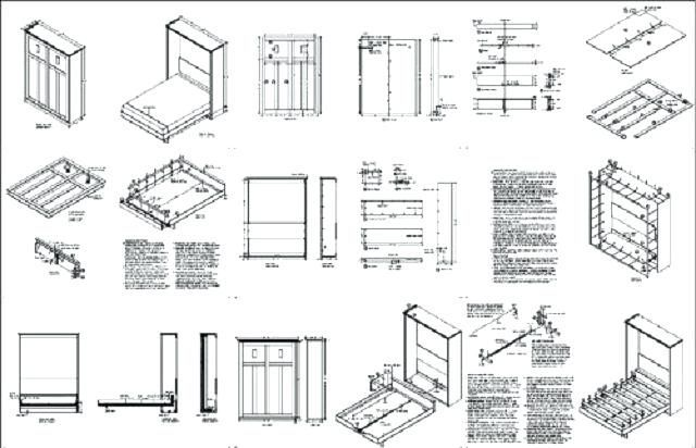Free Murphy Bed Plans How To Build Bed Free Plans Woodworking