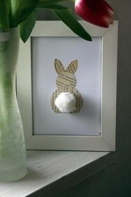 Funny Bunny schilderijtje... voor konijnenliefhebbers leuk om de namen van hun konijnen erin te maken. (word) Dan konijntje knippen, oud laten worden in thee... en klaar!