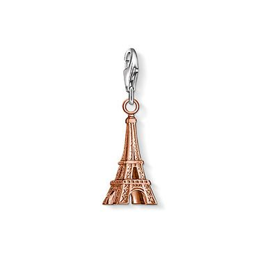 "THOMAS SABO Charm pendant ""Eiffel Tower"" with lobster clasp, made from 925 Sterling silver; 18K rosé gold plated. The city of love through rose-tinted glasses: the Eiffel Tower in delicate rose gold plating.  Size: 2.1 cm"