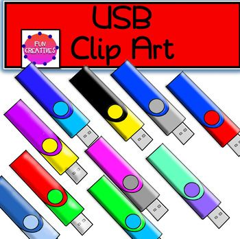 Thanks for viewing this great set of USB clip art. this usb clip art was created and saved at 300 dpi so is high quality. Included: 10 Colored png files with transparent background 1 Black and White png file with transparent background Commercial Use: You may use these clips in your