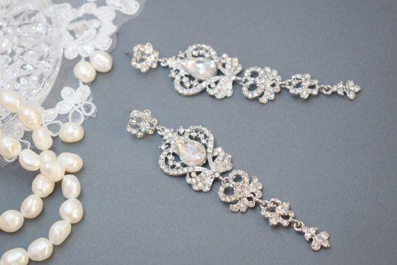 Vintage Chandelier Earring Wedding Earring Drop Dangle