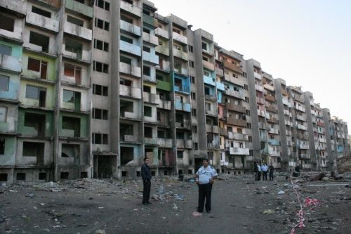The infamous Bloc 20 in Yambol, now demolished.