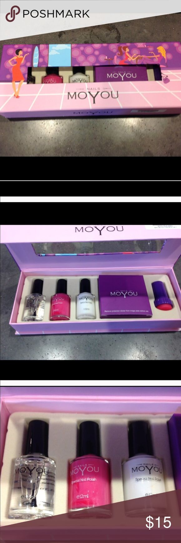 Mo You French Manicure set NEW in box Great kit for a French manicure with 4 plates for designs. Retails for $35 Mo YOU Other