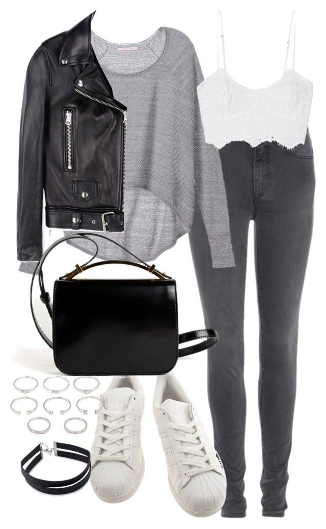 """""""Untitled #4087"""" by amm-xo ❤ liked on Polyvore featuring Acne Studios, Victoria's Secret, Miguelina, adidas, Givenchy and Forever 21"""