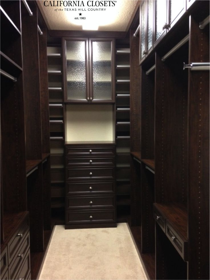 One Of Our Designers, Carly, Designed This Fabulous Master Closet In  Chocolate For A #SanAntonio Client. Features Include Miter Door/drawer  Fronts, ...
