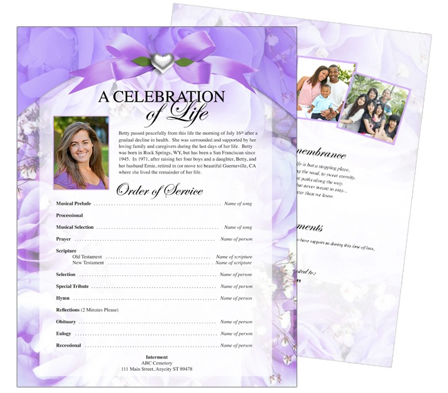 12 best cards funeral templates programs images on for Free celebration of life program template