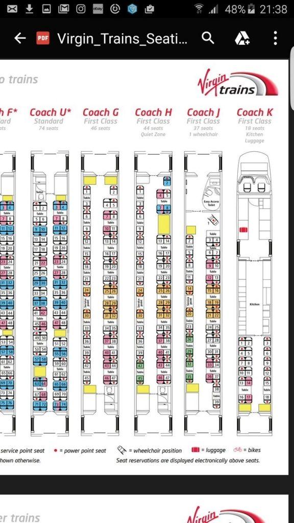 Virgin Trains Pendolino Seating Plan How To Plan Trip Advisor