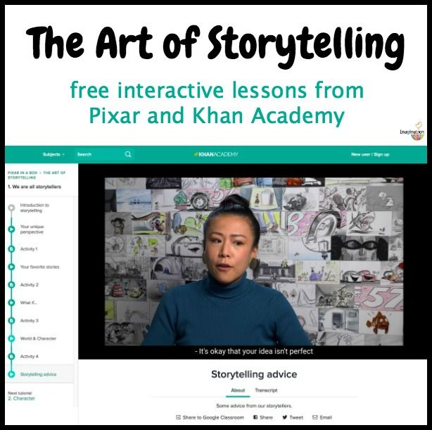 Incredible FREE Storytelling Lessons for Kids from Pixar and Khan Academy