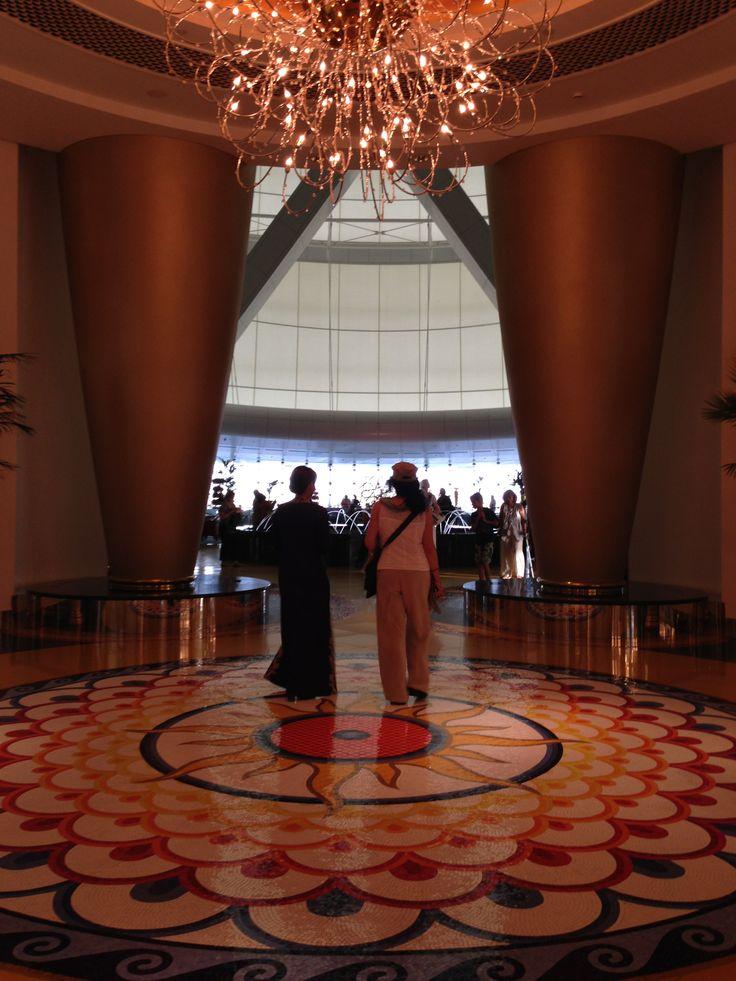 Walking through upstairs lobby burj al arab dubai 39 s for Burj dubai hotel room rates