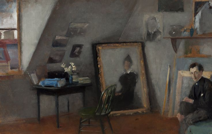 """""""Wnętrze pracowni"""", 1895, wł. Muzeum Narodowe w Warszawie."""