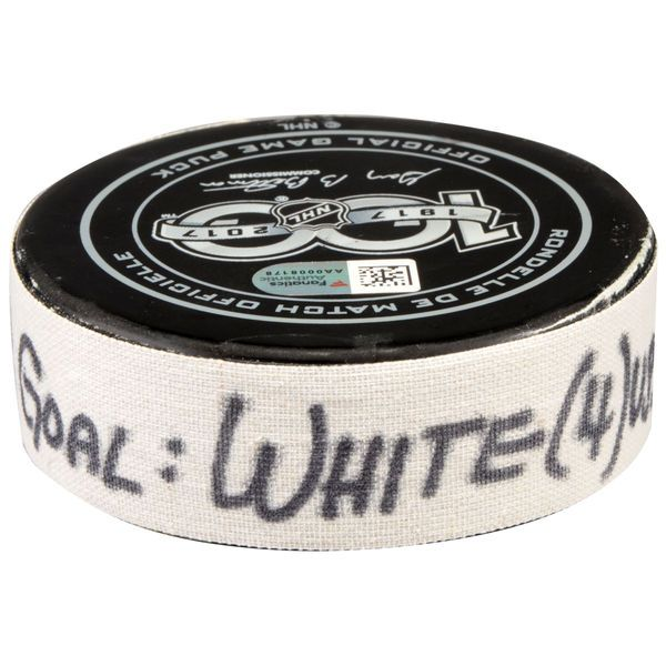 Ryan White Arizona Coyotes Fanatics Authentic Game-Used Goal Puck from January 31, 2017 vs. Los Angeles Kings - $124.99