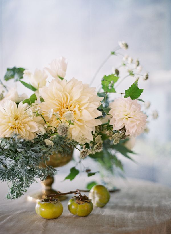Beautiful Dahlia centrepiece | Tracy and Andrew Charlottesville, Virginia Wedding